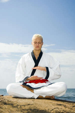 Woman meditating Stock Photo - 3194002