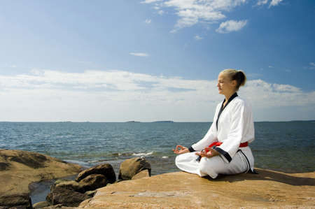 Woman meditating Stock Photo - 3194034