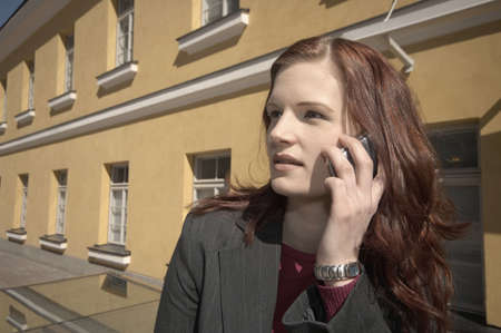 Businesswoman talking on the mobile phone Stock Photo - 3194090
