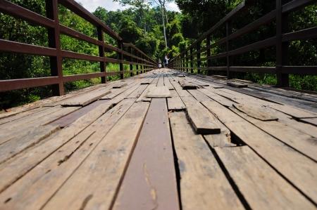 Old wood bridge 版權商用圖片