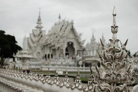 Wat rongkhun at cheangrai Thailand