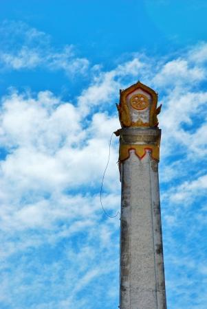 Thai crematorium on the blue sky