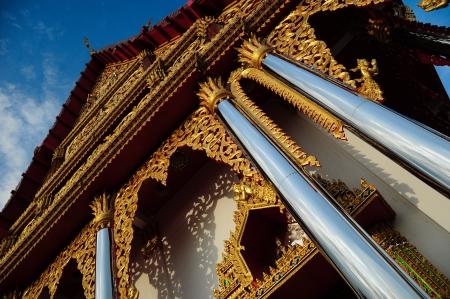 Wat vivekaram at  Sangkhlaburi, Thailand 版權商用圖片