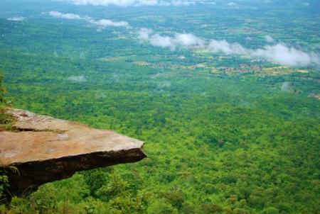Pha Ham Hod at Phu Land Ca National Park, Chaiyaphum, Thailand 版權商用圖片