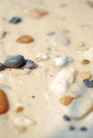 small stone on the beach 版權商用圖片