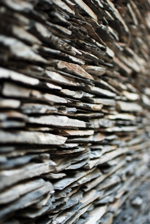 Perspective stone wall