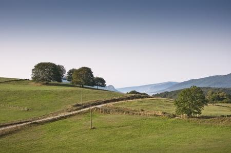 navarra: Meadows in Navarra countryside Stock Photo