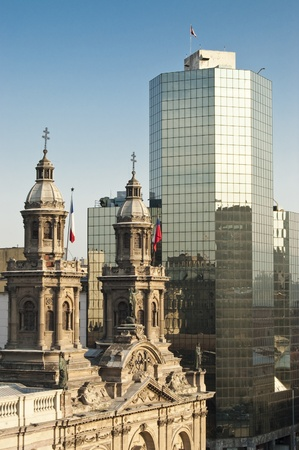 Towers of Santiagos metropolitan cathedral