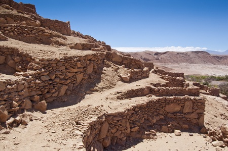 Pre-Columbian archaeological site in San Pedro de Atacama (Chile) Stock Photo