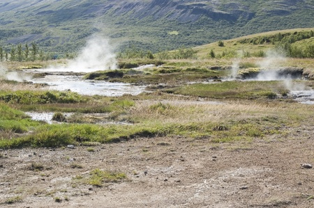 hydrochloric: Geothermal area next to Geysir (Iceland)