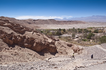 Pukara de Quitor with San Pedro de Atacama valley in the background (Chile)