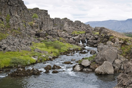 View of Oxara river (Iceland) Stock Photo