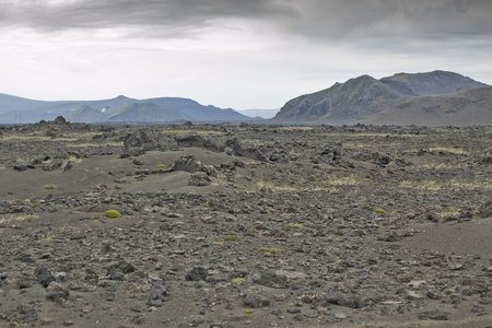 Volcanic landscape in Landmannalaugar (Natural Park of Fjallbak, Iceland) photo