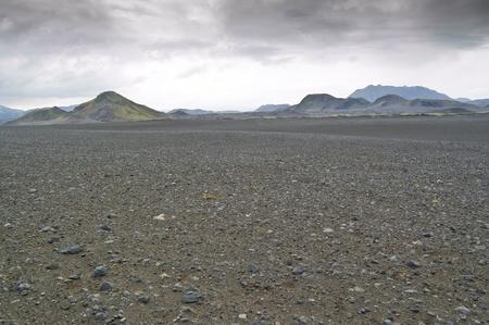 Volcanic landscape in Landmannalaugar (Natural Park of Fjallbak, Iceland)
