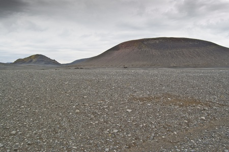 Volcanic landscape in Landmannalaugar (Natural Park of Fjallbak, Iceland) Stock Photo - 11331934