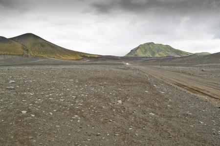 Volcanic landscape in Landmannalaugar (Natural Park of Fjallbak, Iceland) Stock Photo - 11331900