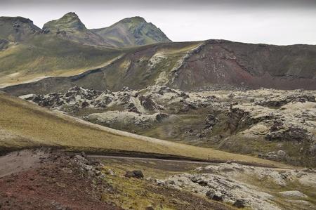 volcanic landscape: Volcanic landscape in Landmannalaugar (Natural Park of Fjallbak, Iceland)