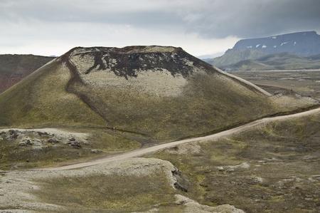 Volcanic landscape in Landmannalaugar (Natural Park of Fjallbak, Iceland) Stock Photo - 11331930