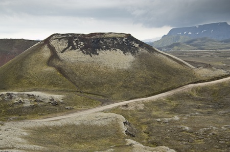 Volcanic landscape in Landmannalaugar (Natural Park of Fjallbak, Iceland) Stock Photo - 11331930