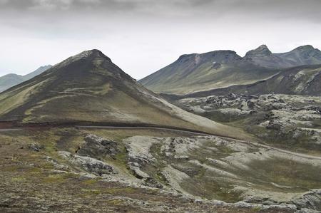 Volcanic landscape in Landmannalaugar (Natural Park of Fjallbak, Iceland) photo