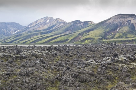 volcanic landscape: Volcanic landscape in Landmannalaugar (Iceland)