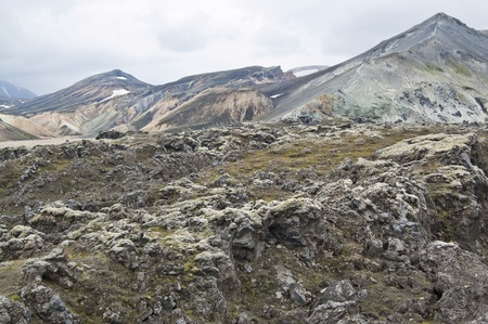 Volcanic landscape in Landmannalaugar (Iceland) Stock Photo - 11331935