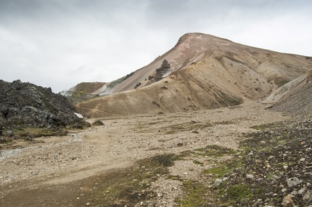Volcanic landscape in Landmannalaugar (Iceland) Stock Photo - 11331931