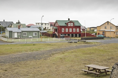 Eyrarbakki. It is a fishing-town on the south-coast of Iceland with a population of about 577 people