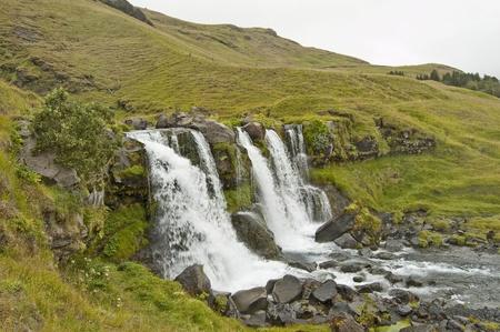 Waterfall at Hraun Mountain, Iceland