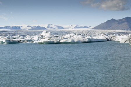 Icebergs in Jokulsarlon Lake (Iceland). It is the largest glacier lagoon or lake in Iceland photo