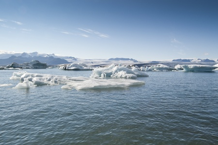 Icebergs in Jokulsarlon Lake (Iceland). It is the largest glacier lagoon or lake in Iceland Stock Photo