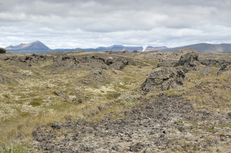 Lava filed in Dimmuborgir (