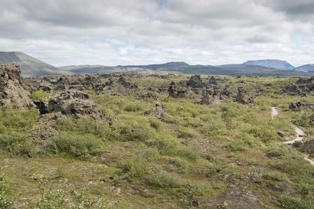 Lava filed in Dimmuborgir (
