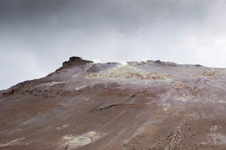 fumarole: Fumarola de campo en N�mafjall (Islandia)