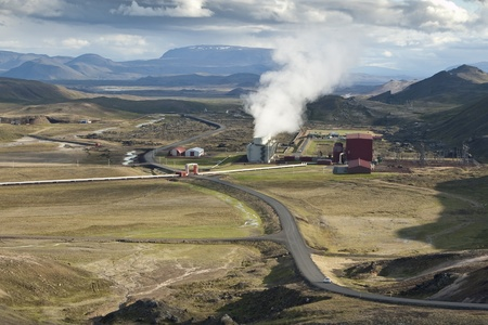 Geothermal power station in volcanic area (Krafla) in Iceland. About 81 percent of total primary energy supply in Iceland is derived from domestically produced renewable energy sources Stock Photo - 11593457