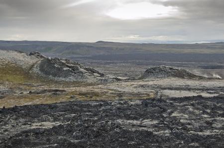 hydrochloric: Lava field in Leirhnjukur (Iceland)