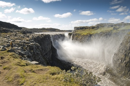 deafening: Dettifoss Waterfall, Iceland