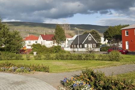 Views of Akureyri (Iceland). It is a city in northern Iceland. It is an important port and fisheries centre, with a population of 17,000 Stock Photo - 11593464