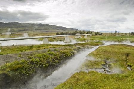 hydrochloric: Geothermal spring in Reykholt (Iceland)