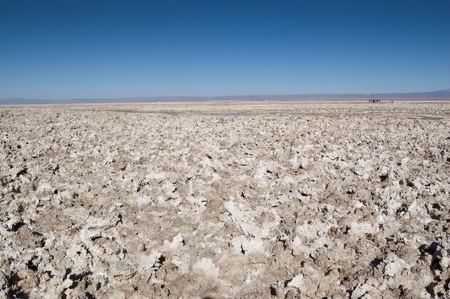 Views of Salar de Atacama, the largest salt flat in Chile Stock Photo