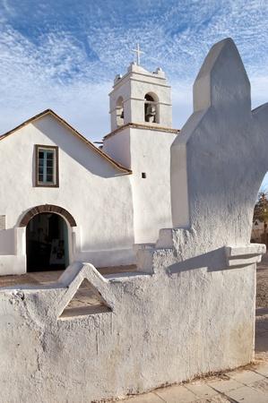 Adobe Church at San Pedro de Atacama, Chile Фото со стока