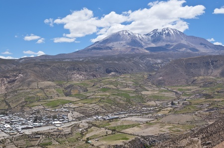 Views of Putre. Putre is a Chilean town in the altiplano at an altitude of 3,500 m (11,438 ft) photo