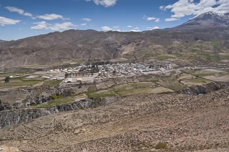 Views of Putre. It is a Chilean town in the altiplano at an altitude of 3,500 m (11,438 ft) photo