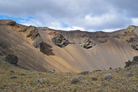 scoria: Volcanic landscape in Pali-Aike National Park, Chile