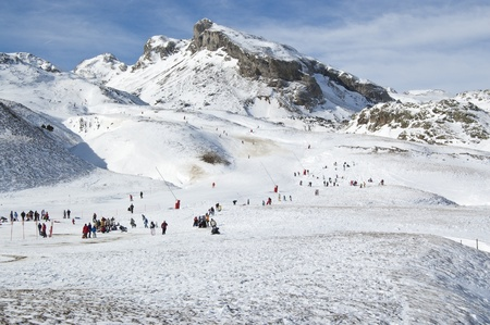 General view of a ski resort (Formigal, Huesca, Spain) Stock Photo - 12470446
