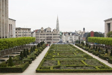The Kunstberg. Also called Monts des Arts (French), meaning Hill of the arts is a historic site in the center of Brussels, Belgium photo