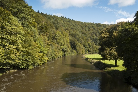 uplands: Semois River, Bouillon, Belgium. It is a river flowing from the Ardennes uplands of Belgium and France towards the River Meuse