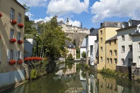 Canal in Lusembourg City Stock Photo - 12474637