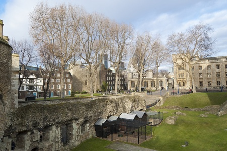 Tower of London. Her Majesty Royal Palace and Fortress, more commonly known as the Tower of London, is a historic castle on the north bank of the River Thames in central London Stock Photo - 12474304