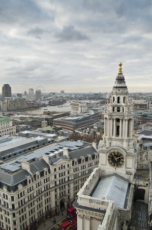 buttresses: Views of The City of London from St. Paul Cathedral Stock Photo
